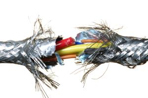 Broken electric cable.